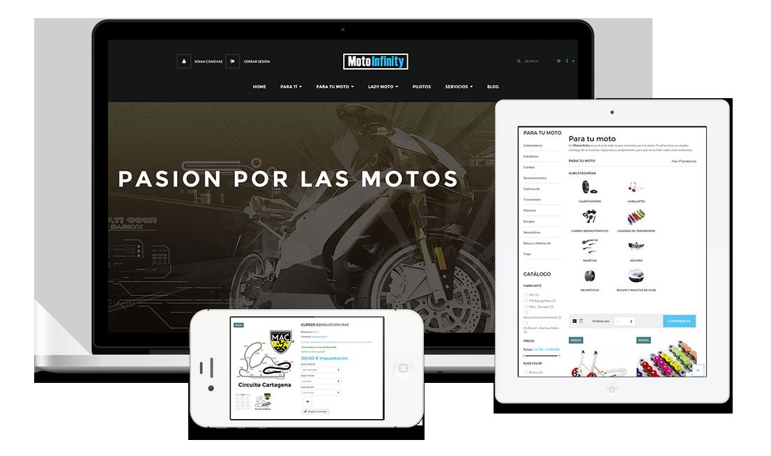 2c70c8208fd plus publicidad pagina web motoinfinity tienda online accesorios moto y  motorista